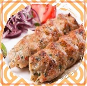 Люля–кебаб из свинины с зеленью и болгарским сладким перцем