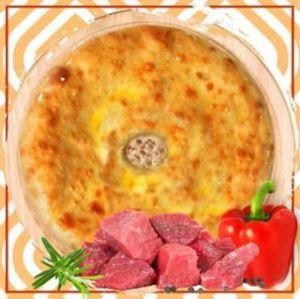 Пирог с мясом и болгарским перцем