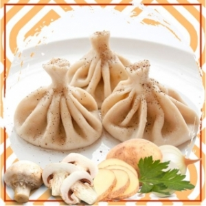 Хинкали  с картофелем и грибами