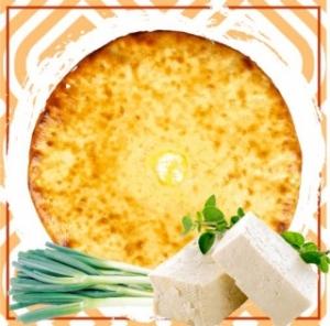 Пирог с сыром и зеленым луком