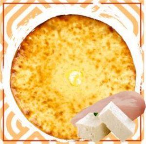 Пирог с курицей и домашним сыром